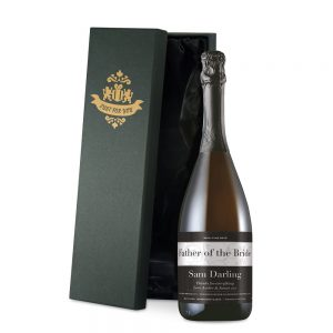 Personalised Wedding Swirls Prosecco & Luxury Gift Box