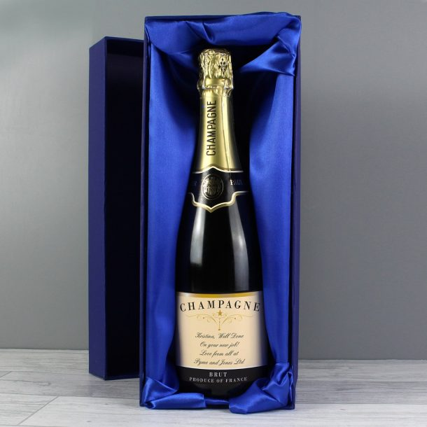 Personalised Any Message Classic Champagne & Gift Box