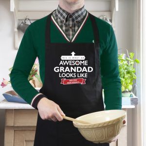 Personalised Awesome Black Apron