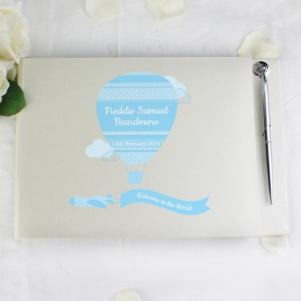 Personalised Baby Boys Guest Book