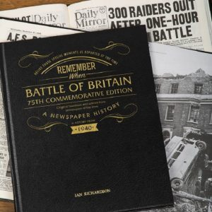 Personalised Battle of Britain 75th Anniversary Newspaper Book