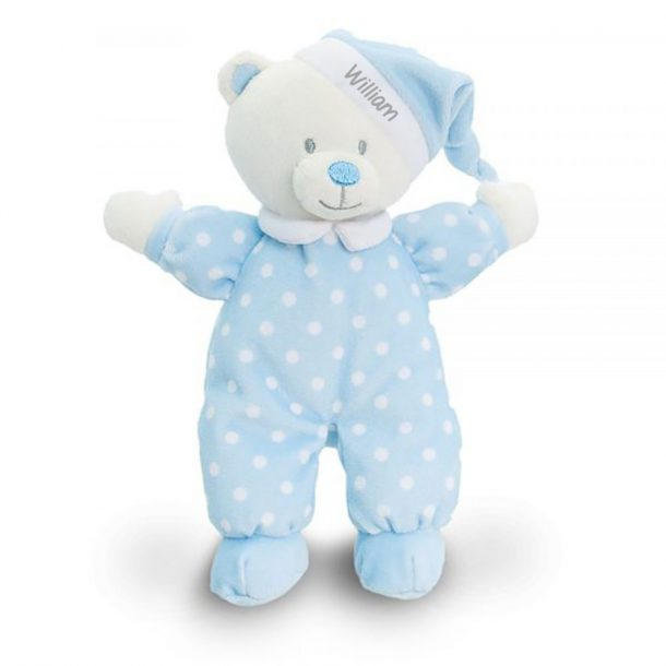 Personalised Blue Goodnight Bear