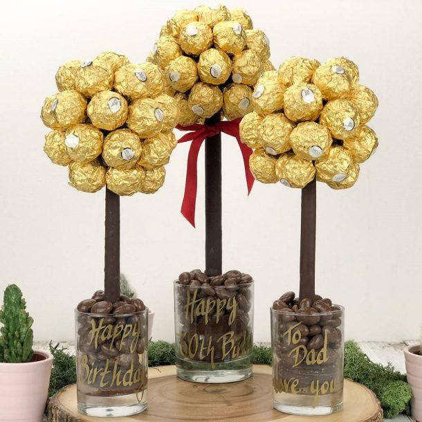 Personalised Ferrero Rocher Sweet Trees