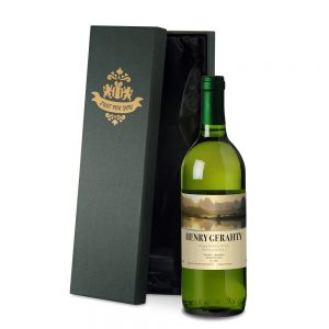 Personalised French White Wine & Luxury Gift Box