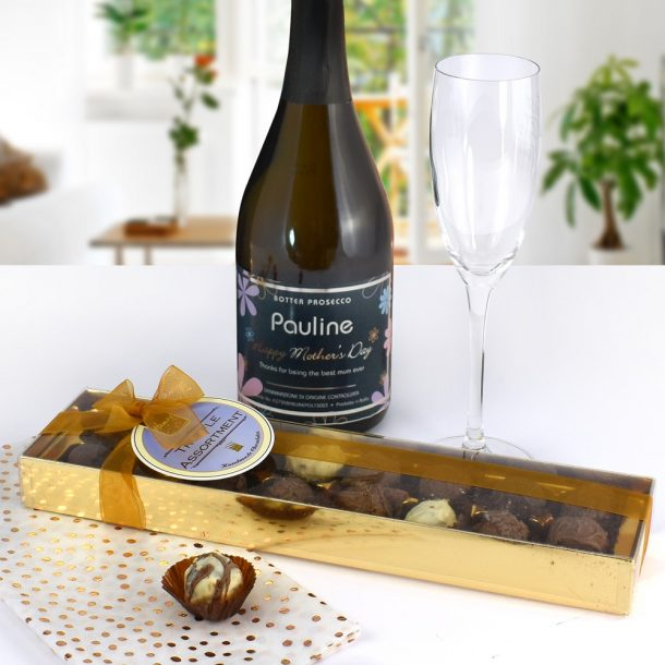 Personalised Mother's Day Prosecco & Chocolates