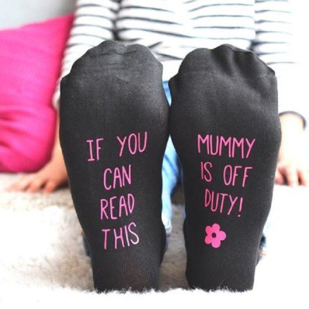 Personalised Mum's Off Duty Socks