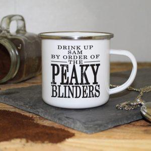 Personalised Peaky Blinders Enamel Mug