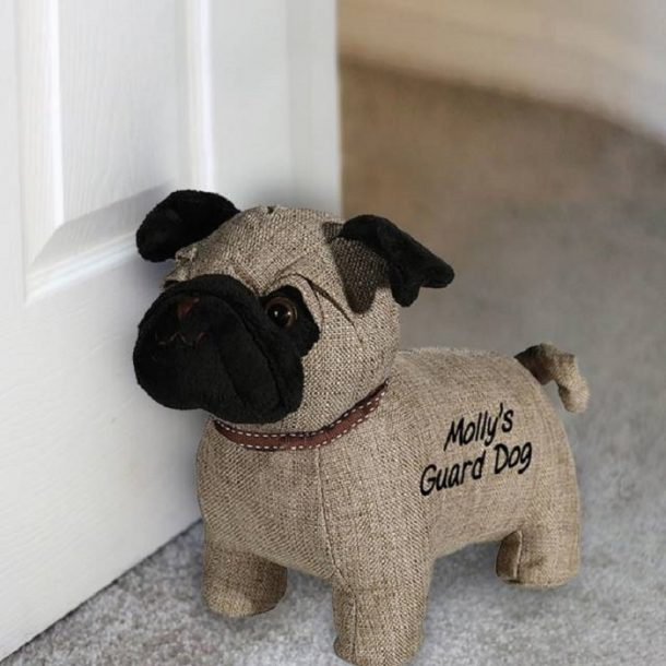 Personalised Pug Door Stop