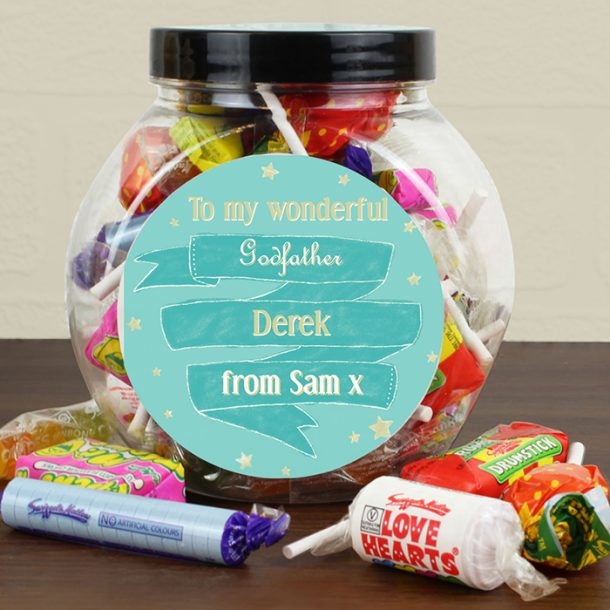 Personalised Shining Star Sweet Jar