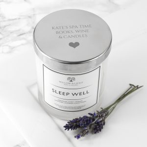 Personalised Sleep Well Luxury Scented Jar Candle