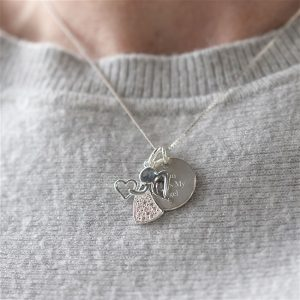 Personalised Sterling Silver Angel Necklace & Gift Box