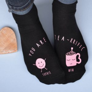 Personalised Teariffic Mum & Me Socks