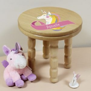 Personalised Unicorn Wooden Stool