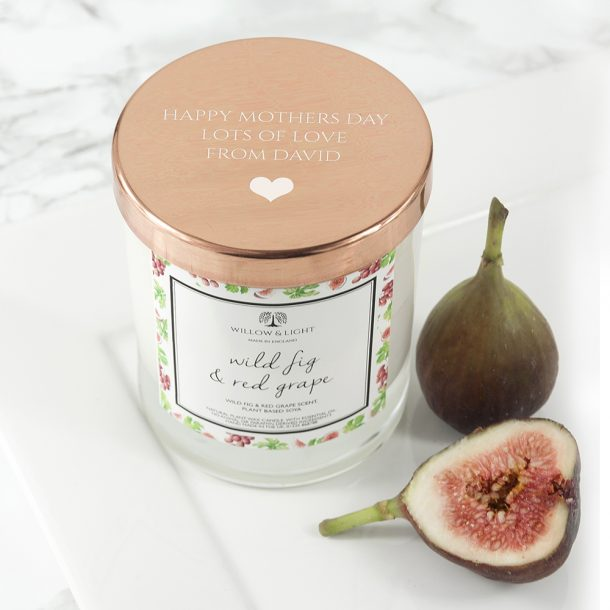 Personalised Wild Fig & Red Grape Scented Jar Candle