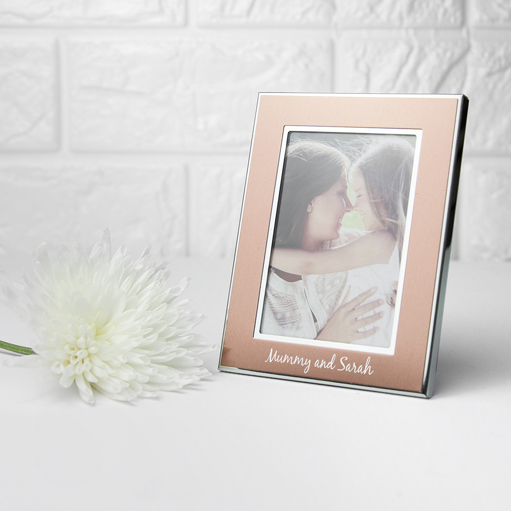 Personalised Rose Gold Metal Photo Frame Love My Gifts