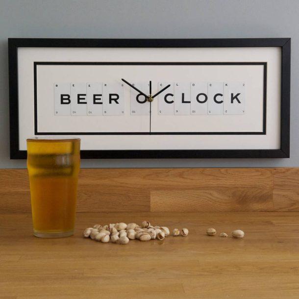 Beer O Clock Frame Clock