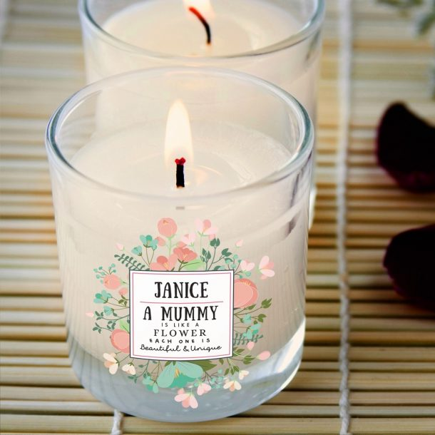 Personalised Beautiful & Unique Rose Scented Candle