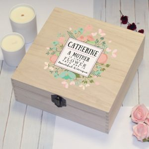 Personalised Beautiful & Unique Wooden Storage Box
