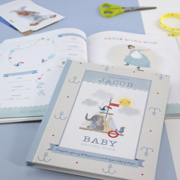 Personalised Boy's Baby Record Book