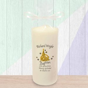 Personalised Church Baptism Candle