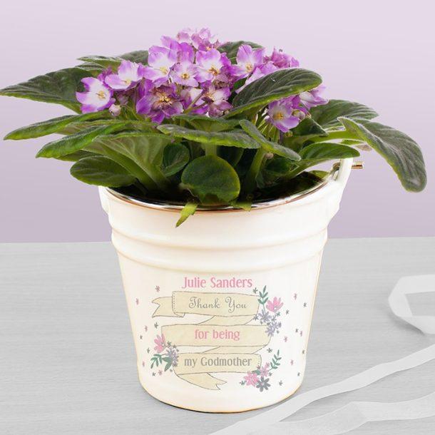 Personalised Garden Bloom Porcelain Bucket
