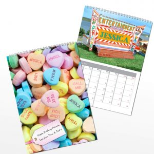 Personalised Girls A4 Wall Calendar