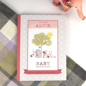 Personalised Girl's Baby Record Book