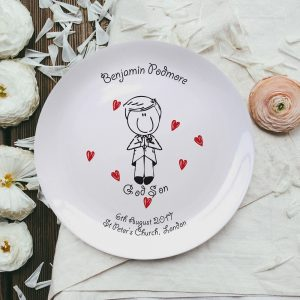 Personalised Graffiti Godson Plate