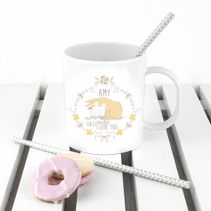 Personalised Guess How Much I Love You Wreath Unbreakable Mug