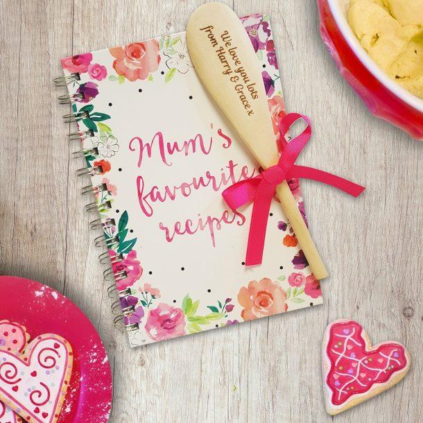 Personalised Mum's Favourite Recipe Book & Spoon
