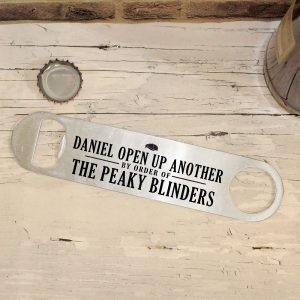 Personalised Peaky Blinders Bar Blade