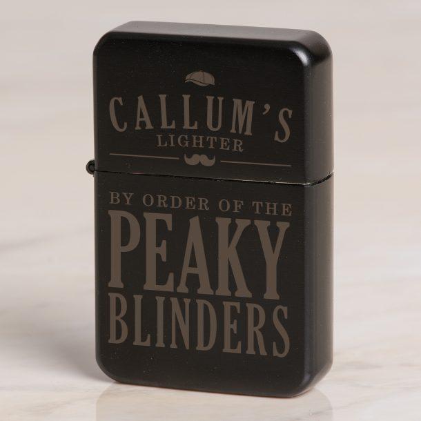 Personalised Peaky Blinders Black Lighter