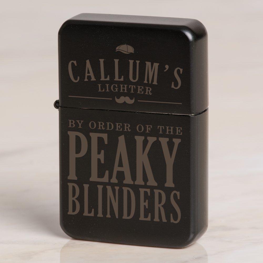 950192b601b4 Personalised Peaky Blinders Black Lighter