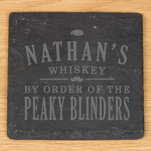 Personalised Peaky Blinders Slate Coaster