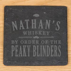 Personalised Peaky Blinders Slate Coaster