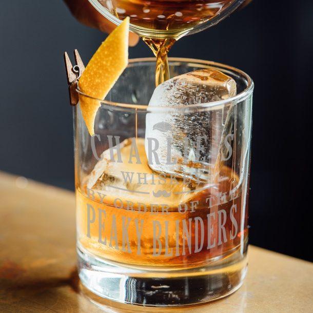 Personalised Peaky Blinders Whiskey Glass