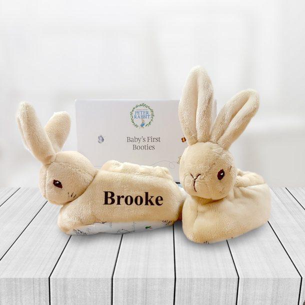 Personalised Peter Rabbit Booties