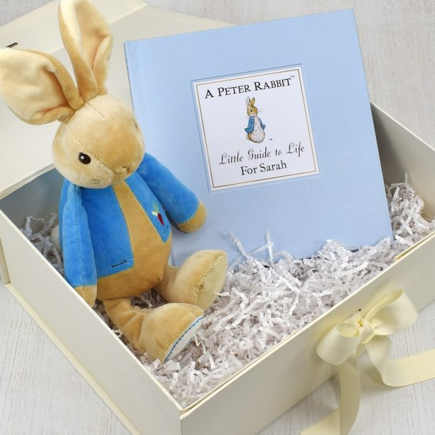 Personalised Peter Rabbit Guide to Life Plush Toy Giftset