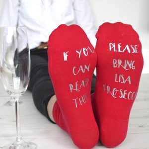 Personalised Please Bring Prosecco Socks
