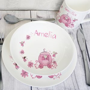 Personalised Pumpkin Carriage Breakfast Set