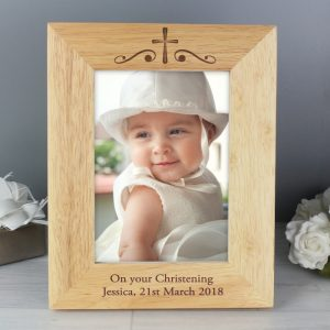 Personalised Religious 5x7 Wooden Photo Frame