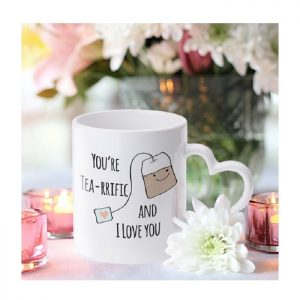 Personalised Tea-riffic Heart Handle Mug