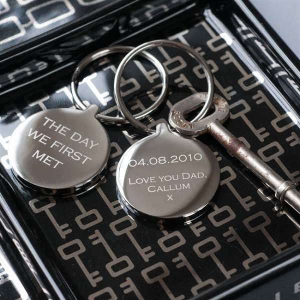 Personalised 'The Day We First Met' Keyring