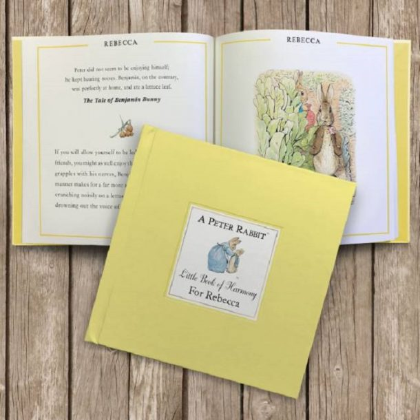 Personalised The Peter Rabbit Little Book of Harmony