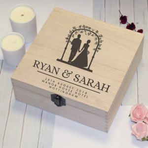 Personalised Wood Wedding Memory Box