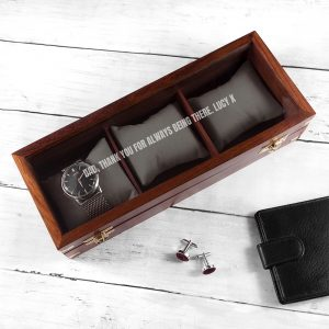 Personalised Wooden Watch Box