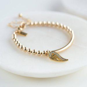 Gold Wing Christening Bracelet
