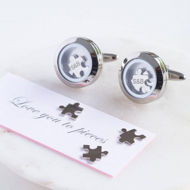 Love You To Pieces Cufflinks