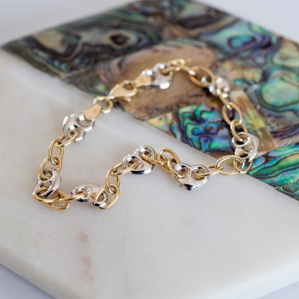 Mixed Heart Bracelet
