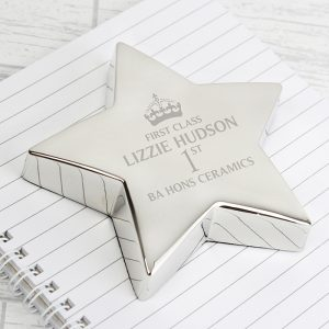 Personalised 1st Class Star Paperweight